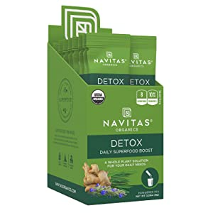 Navitas Organics Daily Superfood Boost, Detox, 0.28 oz.,15 Servings — Organic, Non-GMO, Gluten-Free
