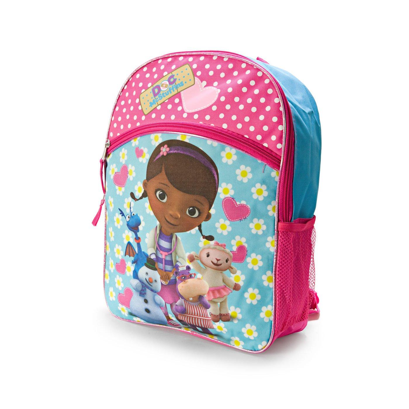 cd5f842a2aa Amazon.com  Disney Junior Doc McStuffins Large Pink Backpack  Toys   Games