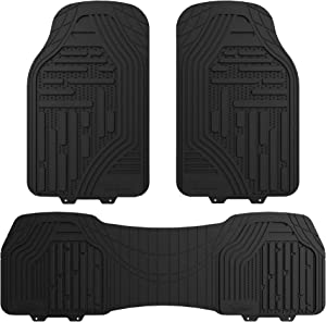 FH Group F11322BLACK Black All Weather Trimmable Floor Mat (Supreme)