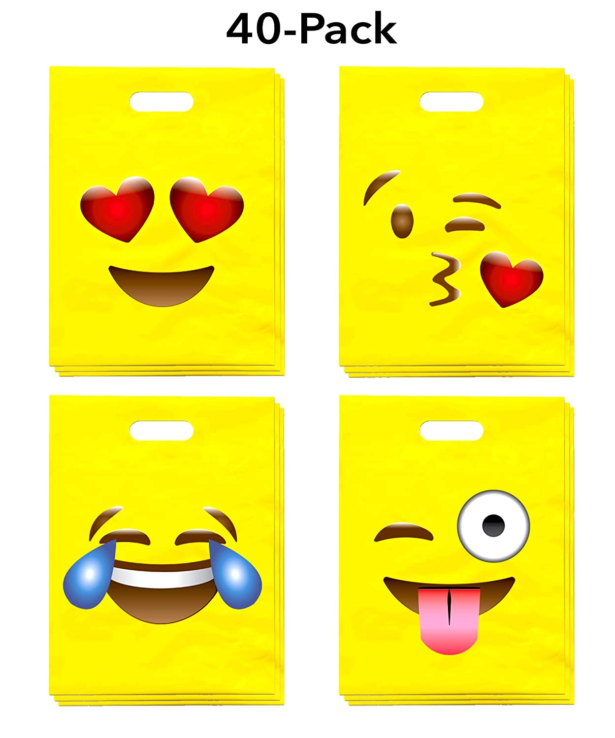 We provide four different styles of emoji party favor bags to make your next emoji themed party even more creative it allows kids to express