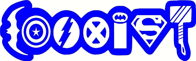 Amazon 9 Coexist Superhero Funny Comic Sticker Decal Bumper