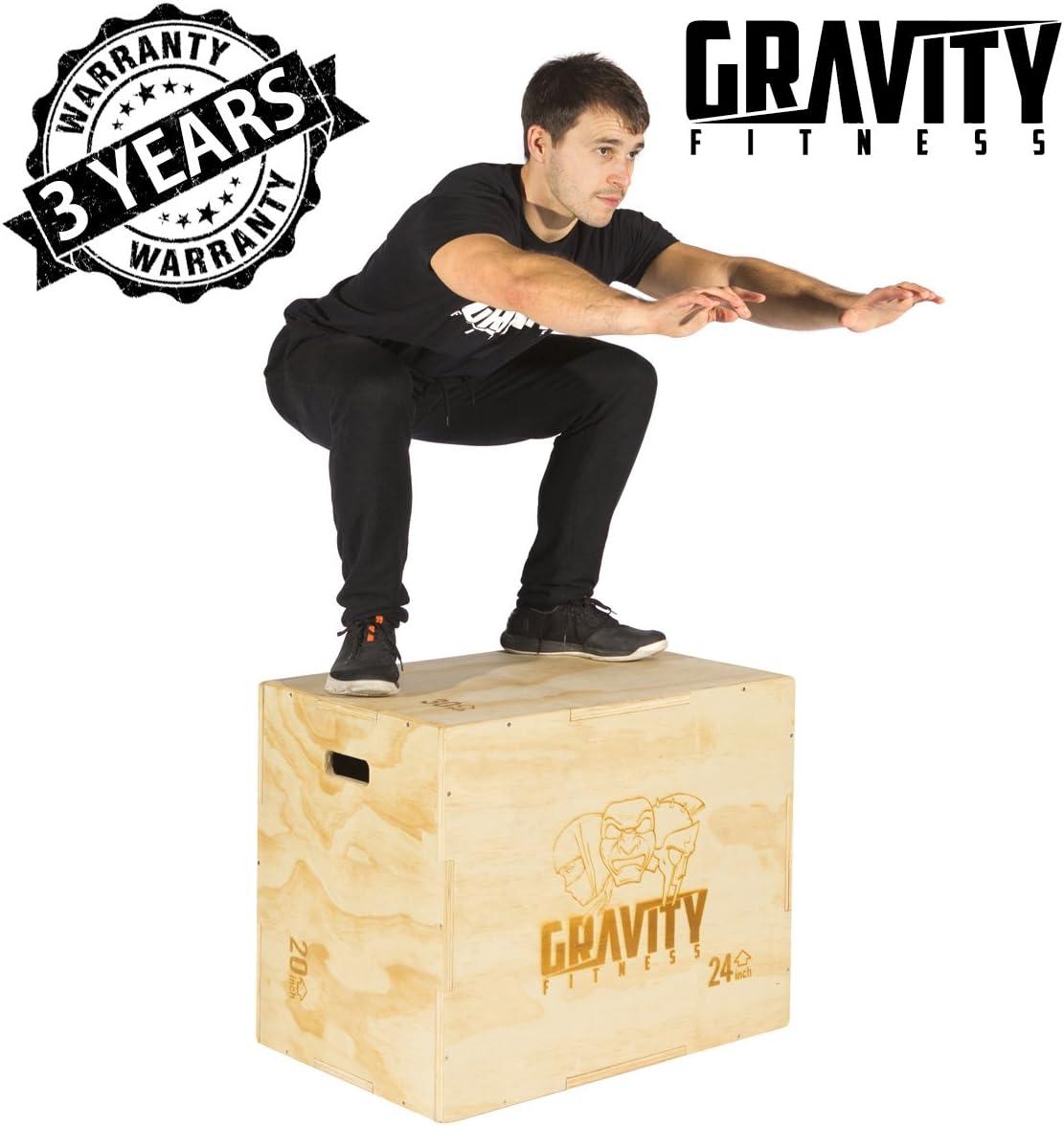 """Gravité Fitness 3 en 1 30 x 20 x 24/"""" pliométrique Jump BOX-PLYO Box"""