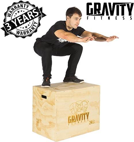 Gravity Fitness Caja de Saltos Pliométricos 3 en 1 30x20x24