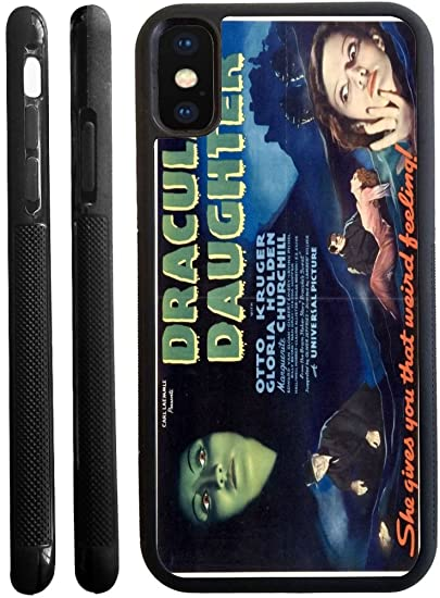 Rikki Knight Vintage Movie Posters Art Draculas Daughter 2 Design iPhone X Hybrid TPU Case Cover