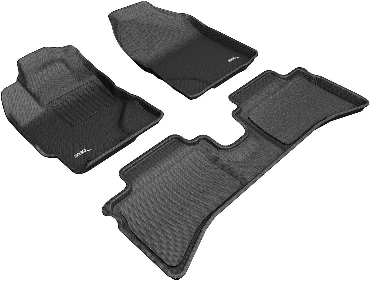Toyota Prius 3 x Piece 2012-2015 Fully Tailored carpet Car Mats in Black.