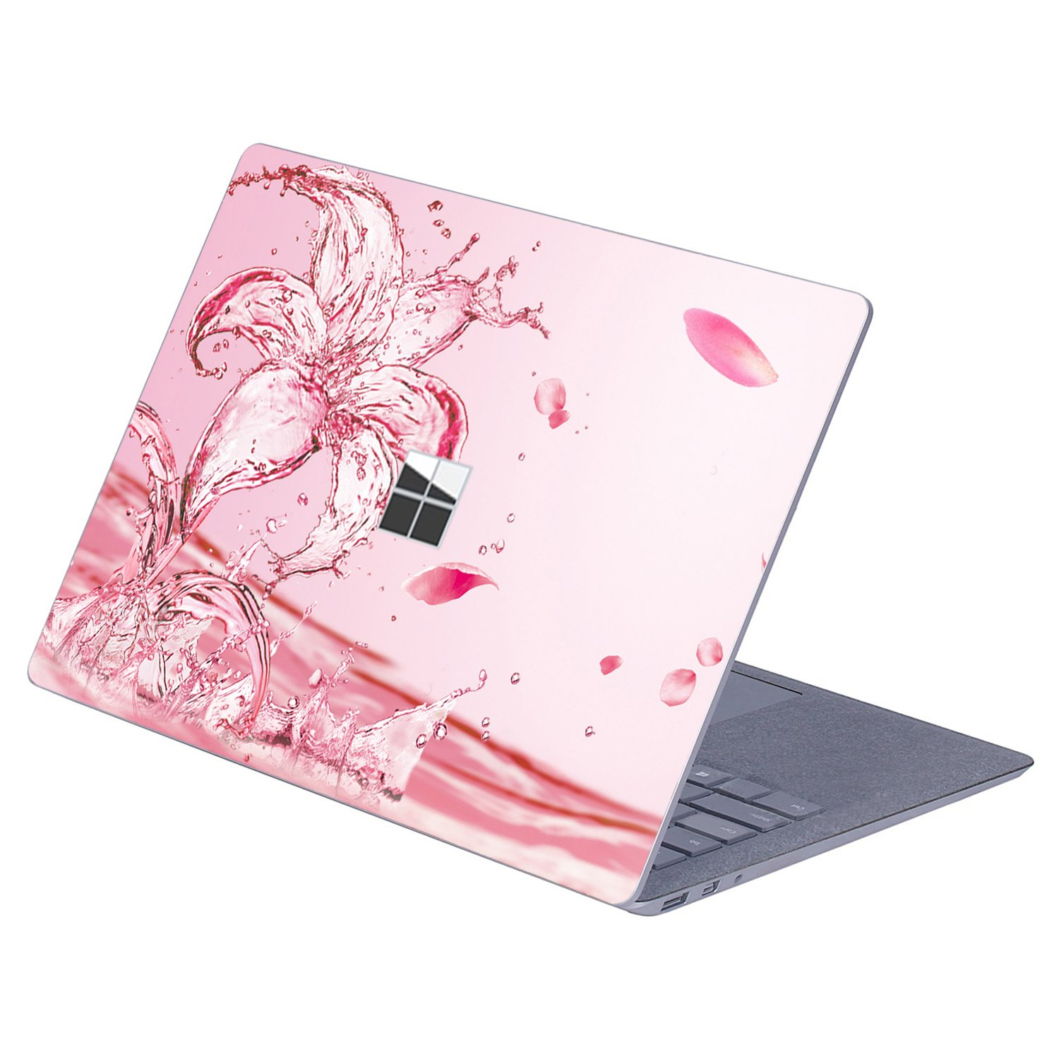 Masino Protective Decal Sticker Protector Cover Skin for 13.5 inch Microsoft Surface Laptop (For Microsoft Surface Laptop, Decal - Lily on Water Pink)