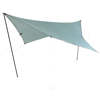 10T Outdoor Equipment 10T Arona Tarp 3x3 UV Toldo, Azul, Estándar