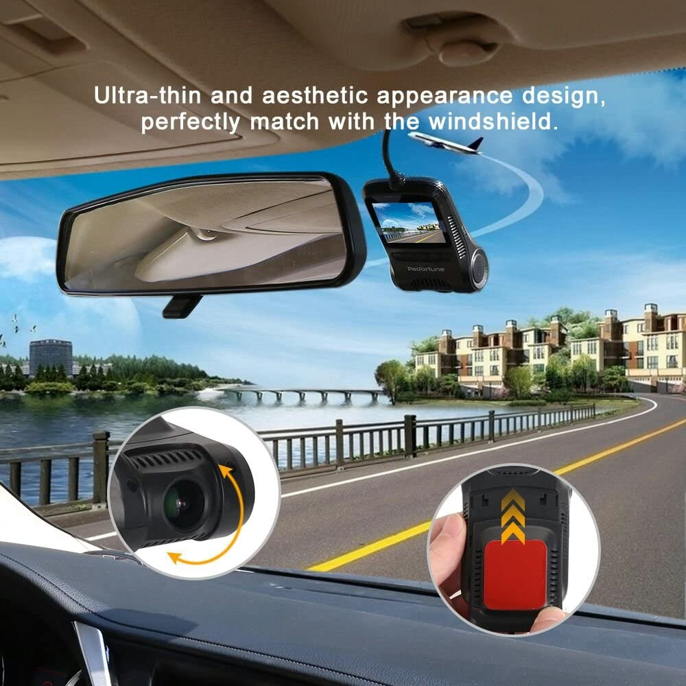 Dash Cam, 2.0 LCD FHD 1080P Car Dashboard Camera Recorder F8 with Sony Exmor Video Sensor, 6-Lane 170 Degree Wide-Angle View A Lens, G-Sensor, WDR, Loop Recording, Night Vision