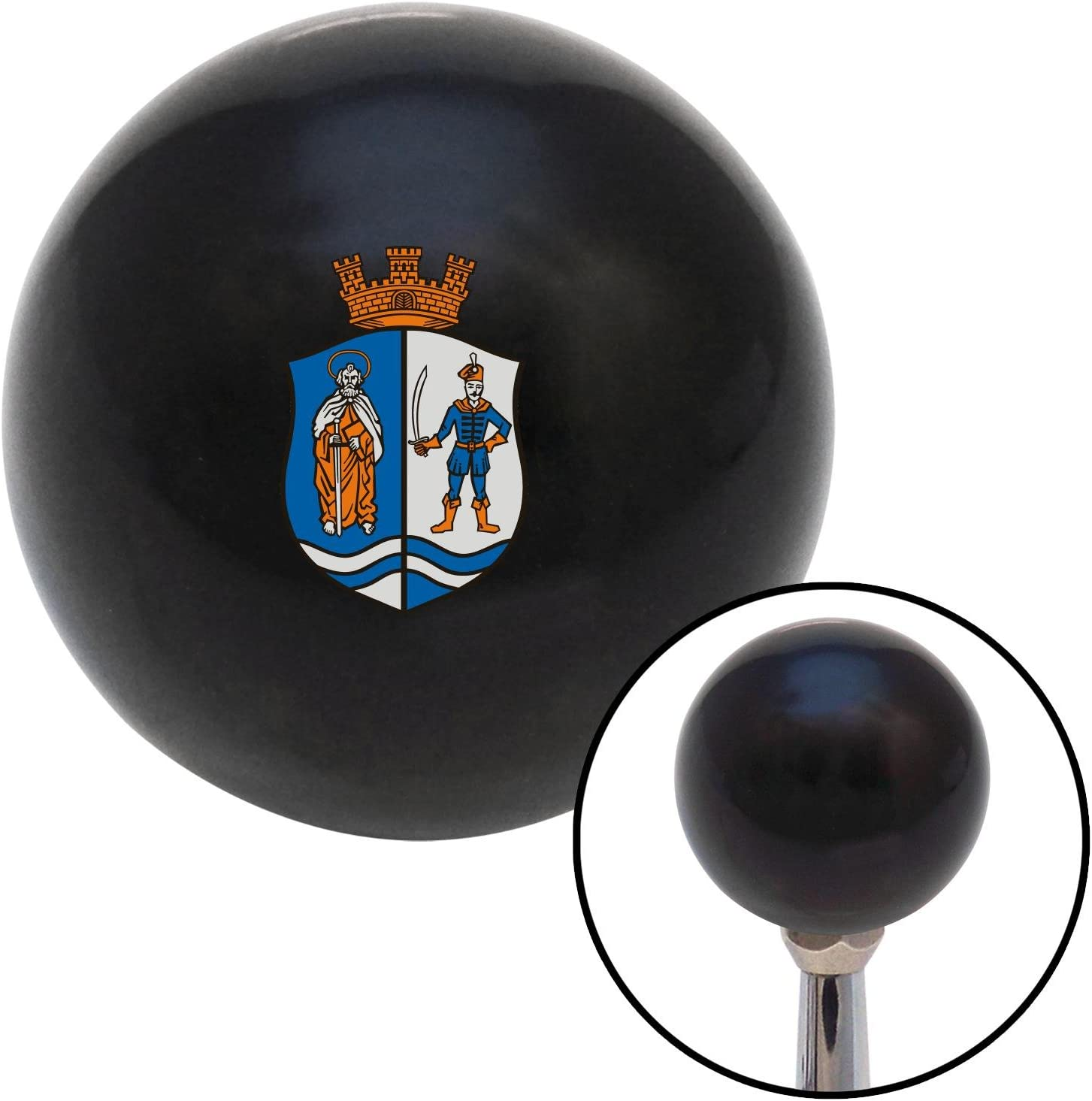 Crown Coat of Arms American Shifter 105388 Black Shift Knob with M16 x 1.5 Insert