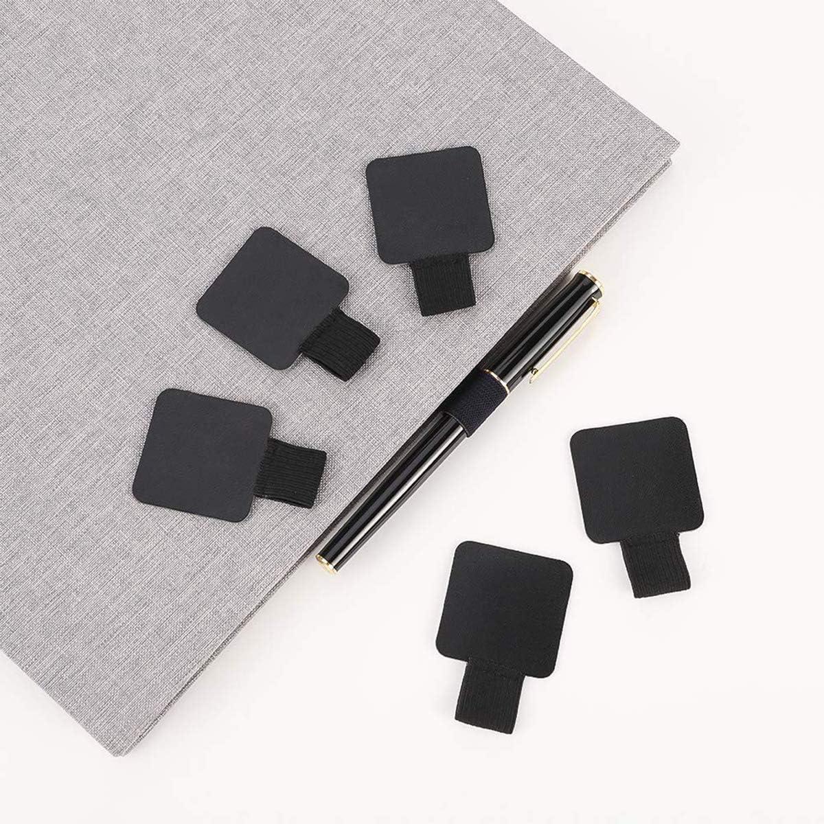 Elastischer Stifthalter Kalender 6 St/ück selbstklebende Leder-Bleistift-Ringe f/ür Notizbuch schwarz Tagebuch