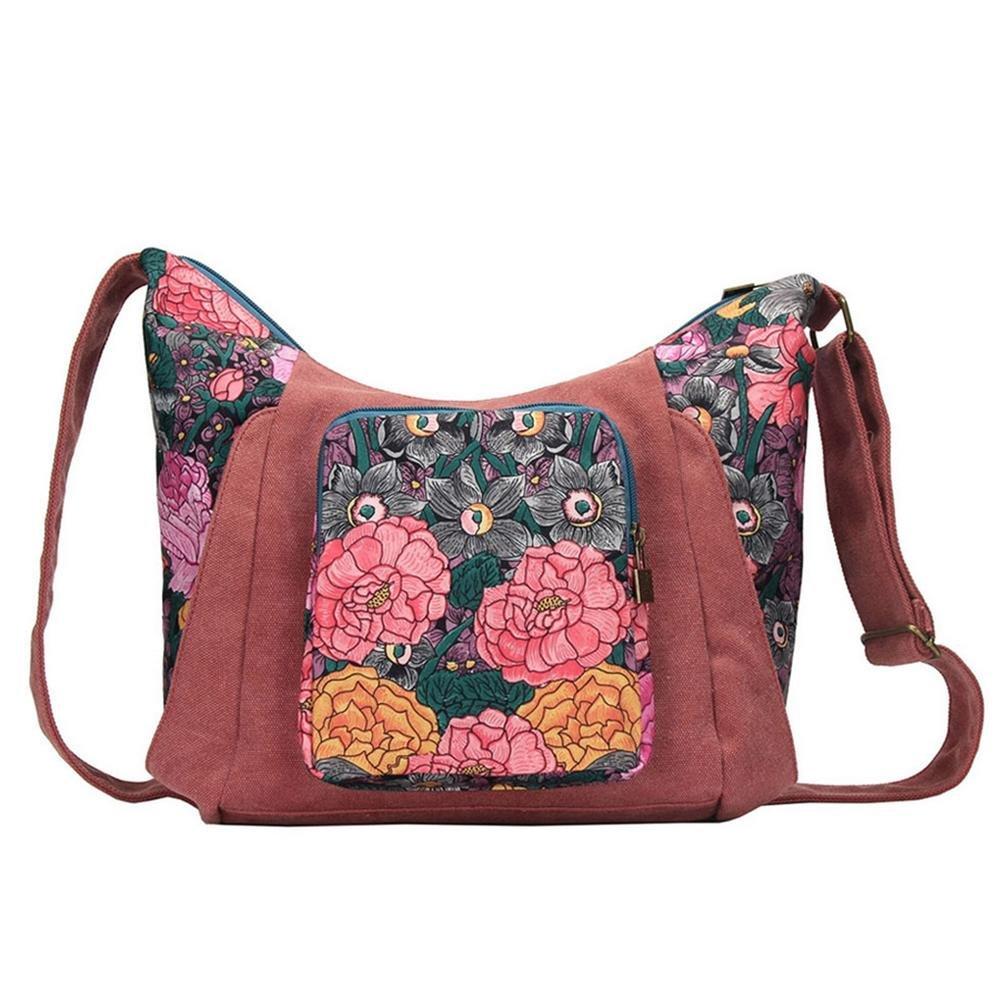 BLACK BUTTERFLY Women 's simple canvas shoulder bag Messenger bag