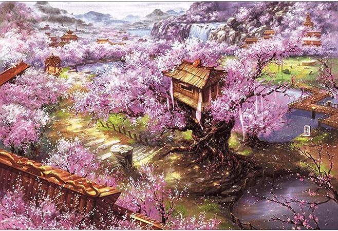 Puzzle 5000 Calefacción En Piezas De Madera Rompecabezas De Viaje For Adultos Súper Paisaje Difícil Pintura Decorativa Juego Regalo 0313 (Color : D): Amazon.es: Hogar