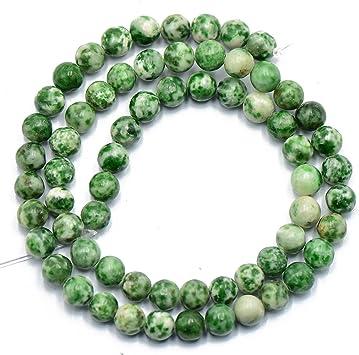 chiwanji 48 Pezzi 8mm Dure Perle di Pietre Preziose Agate Striate per Gioielli Fai da Te
