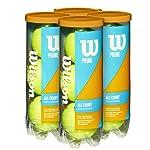 Wilson Prime All Court Tennis Ball 4 Pack (12 Balls)