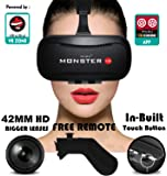 Irusu Monster VR headset - VR headset with Remote Controller and conductive touch button.Highly Calibrated 42MM HD Resin lenses for an immersive mobile Virtual Reality experience.