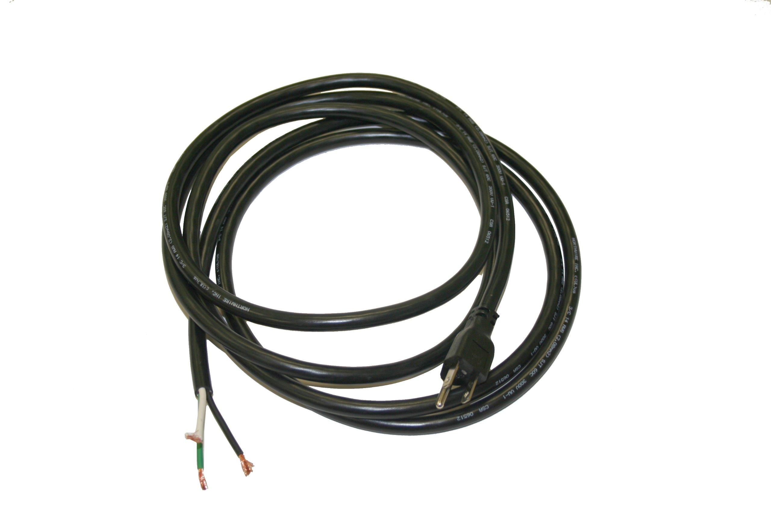 Interpower 70404000305 North American Power Cord, NEMA 5-15 Plug Type, Black Plug Color, Black Cable Color, 15A Amperage, 125VAC Voltage, 3.05m Length