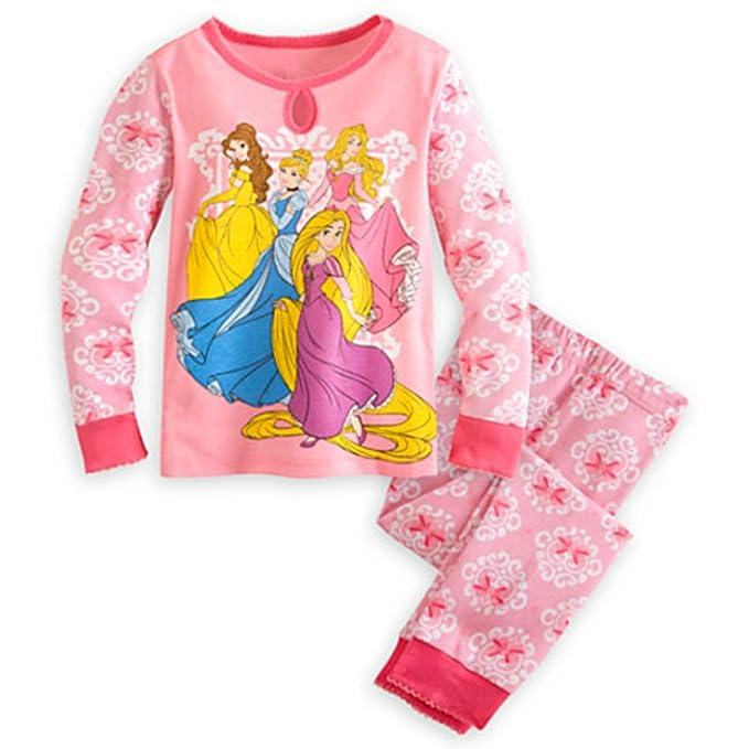 Tienda de pantalones de pijama Princesa Set - Rosa para ni?as (4-