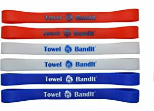 Towel BandIt Beach Towel Holder Patriot 6 Pack-Keeps Your Towel on Your Chair