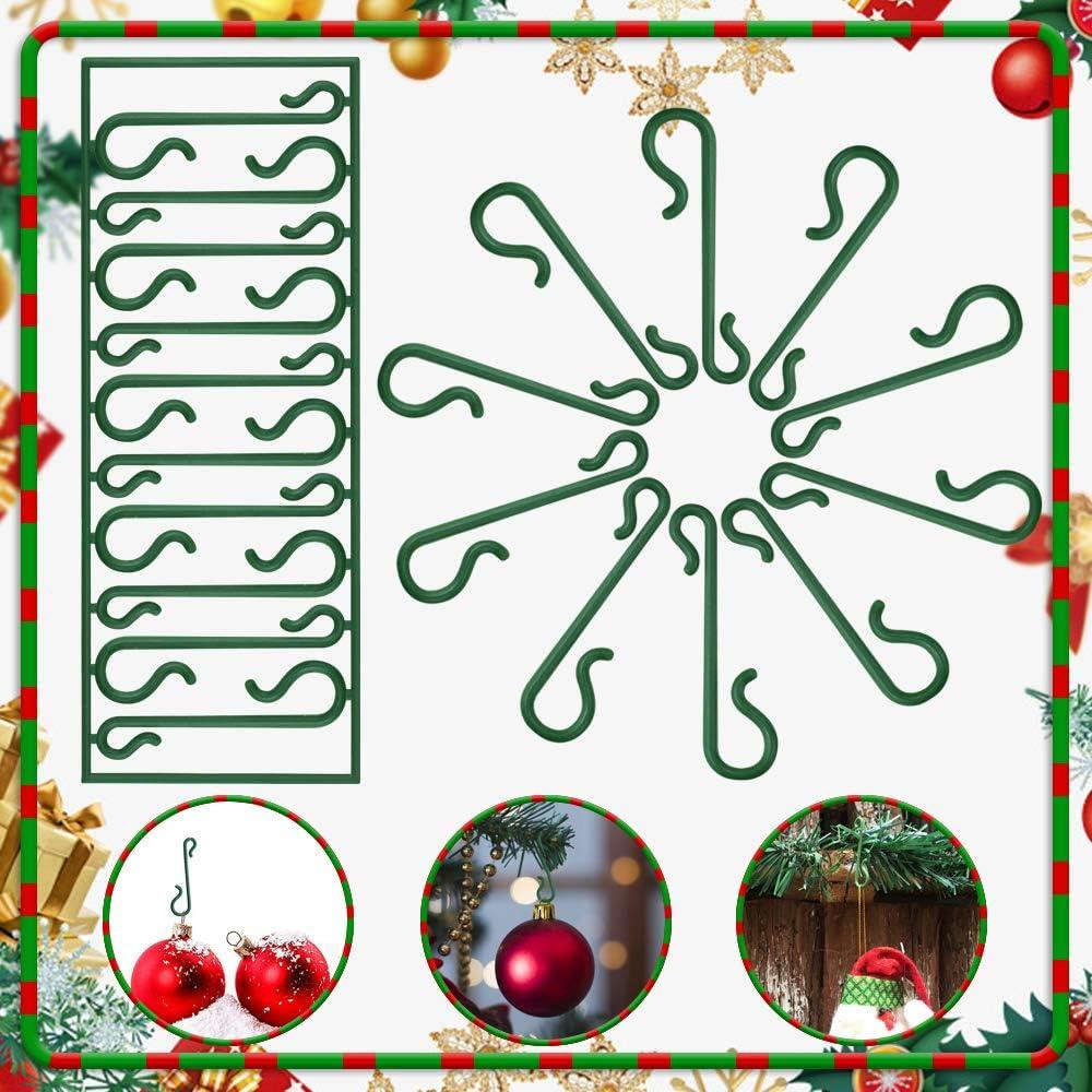 TANCUDER 500 PCS Ganchos para /Árbol de Navidad Gancho de Navidad en Forma de S Ganchos de /Árbol de Navidad de Pl/ástico Ganchos Adornos de Navidad para Colgar Bolas Decoraciones Navide/ñas Verde