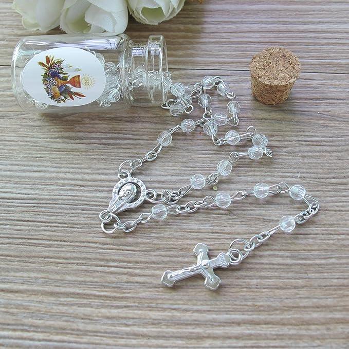 Amazon.com: Primera Comunión rosario favor blanco (12 ...