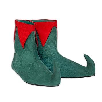 El celibato 33007241.043 - Ama - botines de ante Kobold con una punta doblada - Gr. 37 - verde/rojo: Amazon.es: Juguetes y juegos