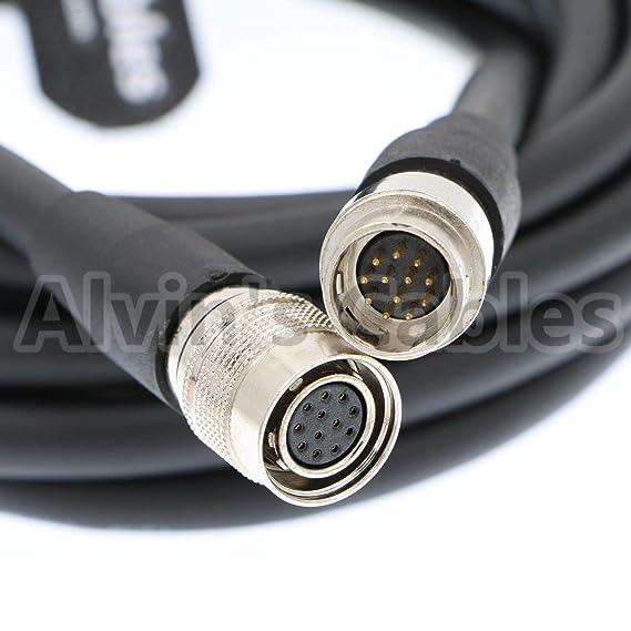 Alvins Cables 12 Pines Hirose Macho a Hembra Cable coaxial de la Red de Sony Industrial Cámara 5M: Amazon.es: Electrónica