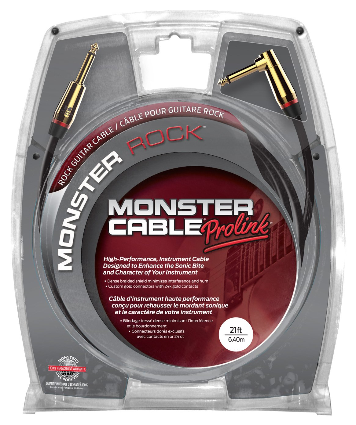 Monster M ROCK2-21A - 21' Monster Rock Instrument Cable by Monster