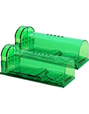 Authenzo HumaneMouseTrap 2019 Upgrade Version Humane Smart No Kill Mouse Trap Catch and Release, Safe for People and Pet, 2 Pack