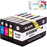 F FINDERS&CO 950 951 XL Ink Cartridges Replacement for HP 950XL 951XL Ink Work with HP Officejet 8100 8600 8610 8620 8630 864