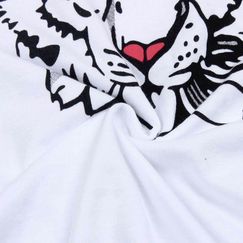 Clode/® Baby Boy Girl Tiger Head Design Short Sleeve T-Shirt