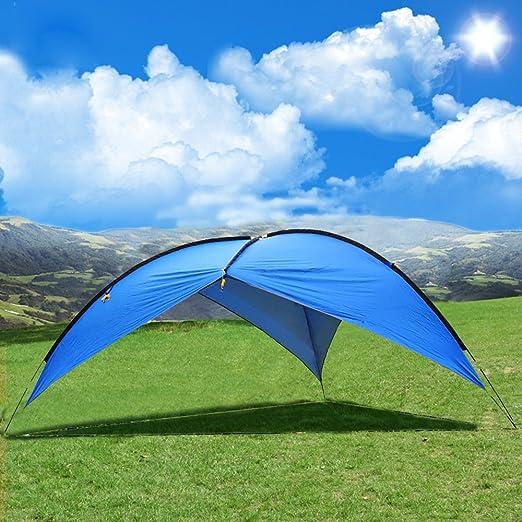 OXKING Toldo Tienda de campaña para la Playa, Playa, Sol Refugio Tienda de campaña Pop Up 3 – 8 Personas Gran Carpa pérgola UV Protección Camping Pesca Festival Tiendas de campaña toldo: