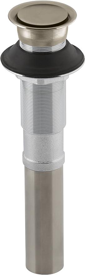 Vibrant Polished Brass Kohler K-7124-PB Pop-Up Clicker Drain Without Overflow