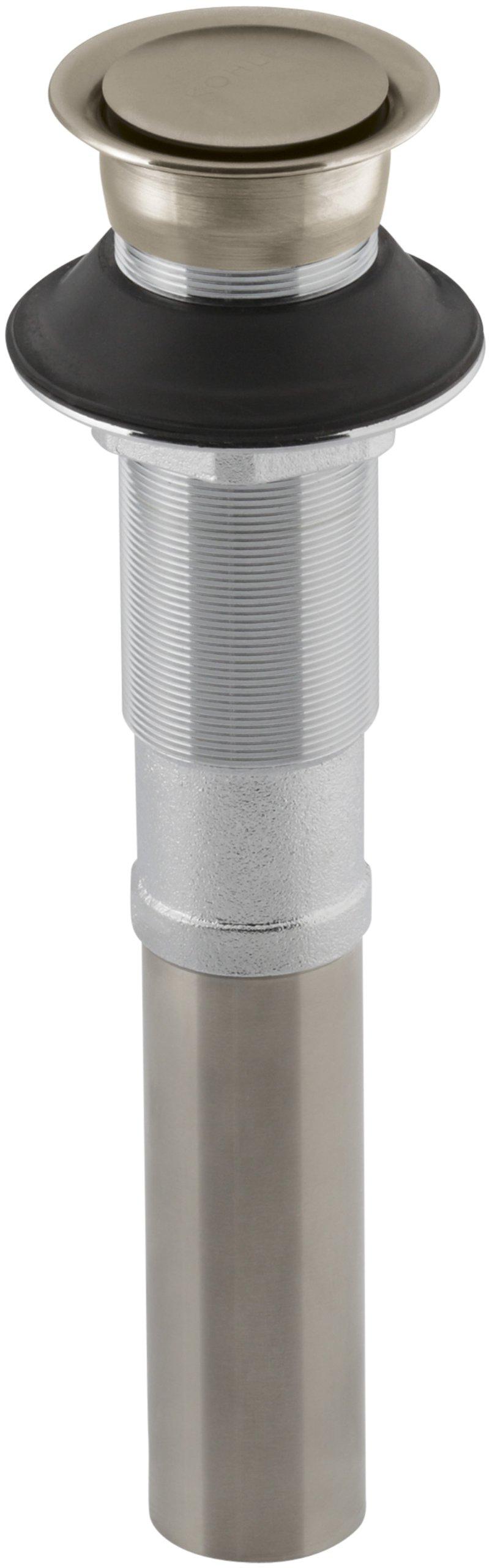 Kohler K-7124-BV Pop-Up Clicker Drain Without Overflow, Vibrant Brushed Bronze by Kohler