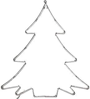 Star sa000025, LED silueta de árbol de Navidad, 50 ledes de luz blanca cálida