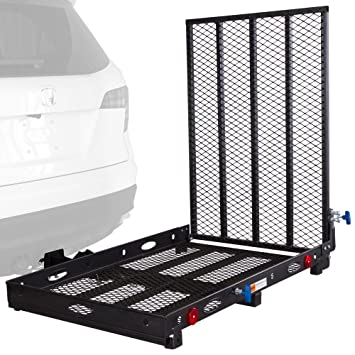 carrier ramp. rage powersports sc400 mobility and equipment cargo carrier with ramp