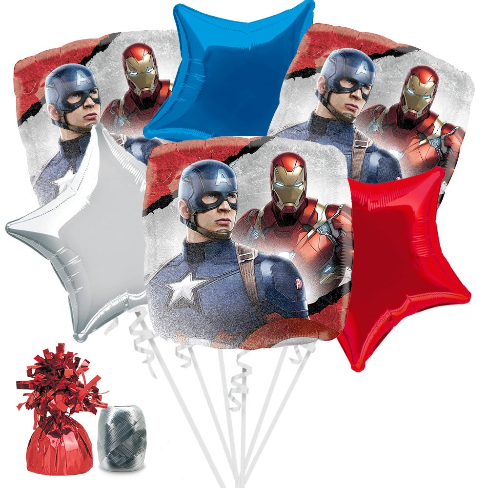 Captain America Balloon Bouquet Kit by Costume SuperCenter