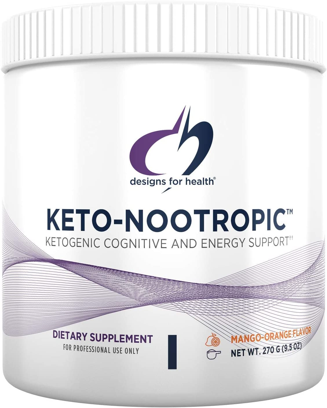 Designs for Health Keto-Nootropic – Exogenous Ketones Powder with Ginseng for Energy Cognition 15 Servings 270g