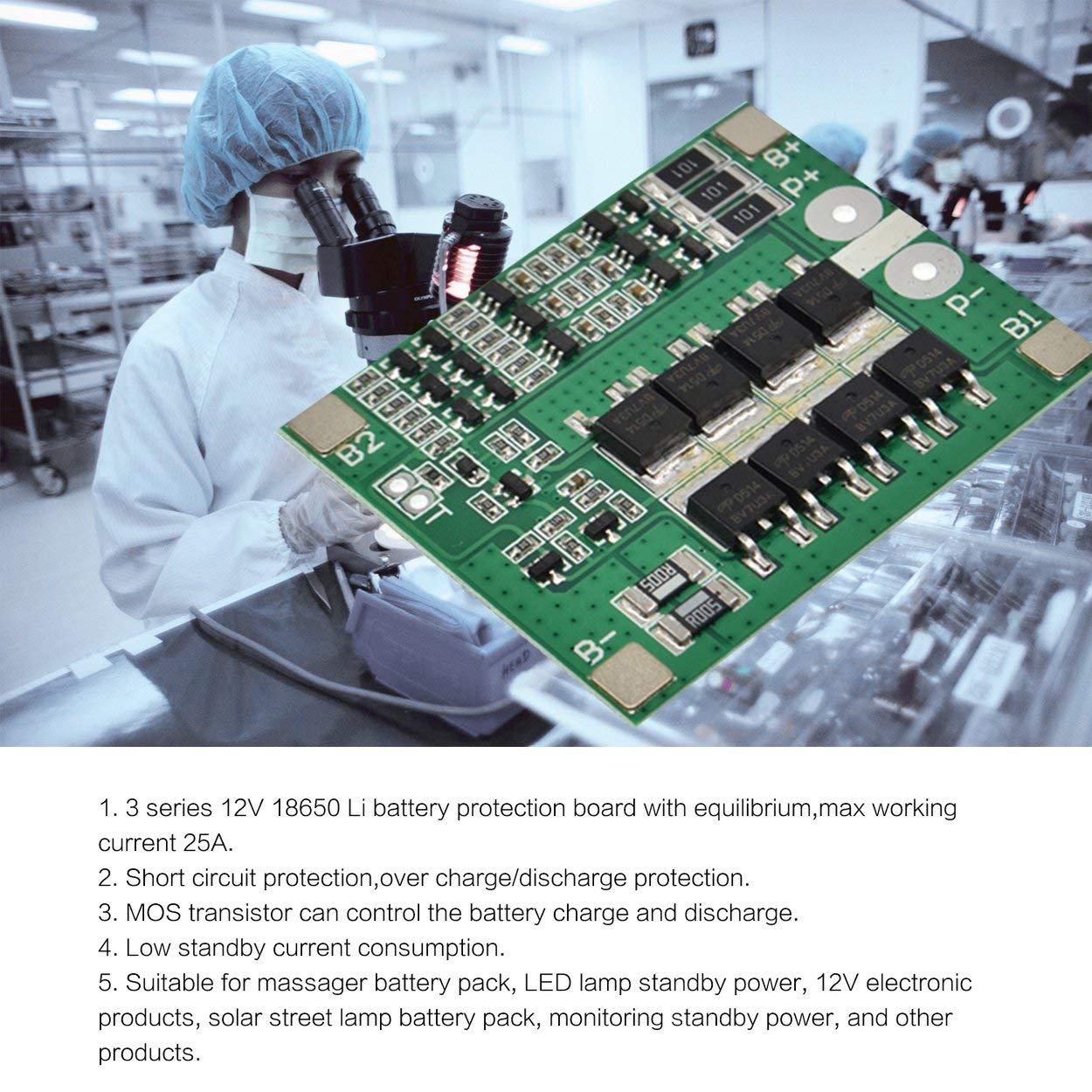 Losenlli 3S 12V 25A Li-Ion Lipo Batería 18650 Cargador de ...