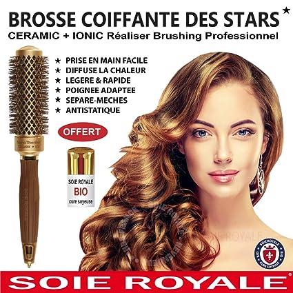 Seda Real Cure Soyeuse cepillo redondo pelo (diámetro 25 mm Cabello cortos y mi-