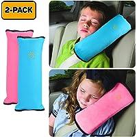 Salandens Almohada de cinturón de seguridad automática Cinturón de seguridad para automóvil Proteger, almohadilla para el hombro, ajustar el cojín del cinturón de seguridad del vehículo para niños, almohada de cinturón de seguridad para niños 2 paquetes