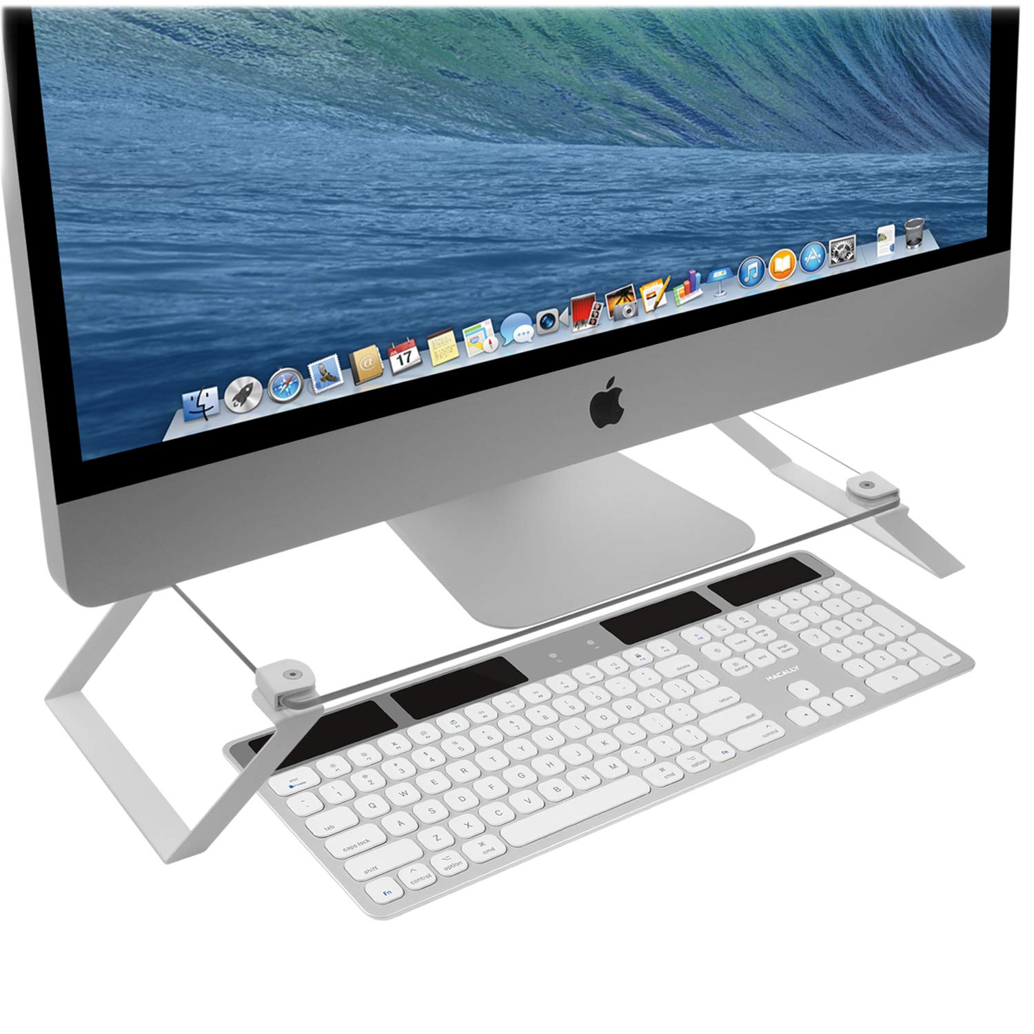 Beau Macally Clear Computer Monitor Riser Stand [Tempered Glass], Desktop Screen  Holder For TV Display U0026 Laptop With Desk Shelf Storage Space For Keyboard  ...
