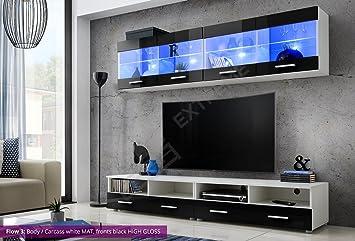 Fantastisch Wohnzimmer Hochglanz Möbel Schrank Set Display Wohnwand MODERN TV Unit Flow