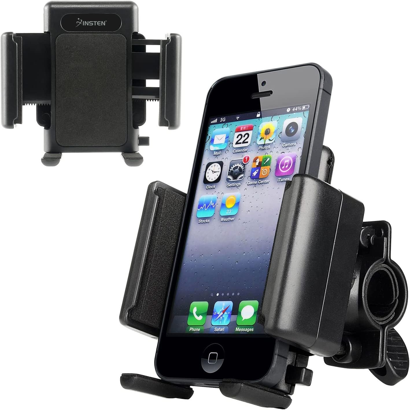 INSTEN Bike Mount Bicycle Phone Holder Ram Mount Compatible with iPhone X//XS//XS Max//XR//8 Plus//7//7 Plus//6S//6S Plus//Samsung Galaxy S10//S10 Plus//S10e//S9//S9 S8 Plus//S7 Edge//S7 Black S9 Plus//S8//S8