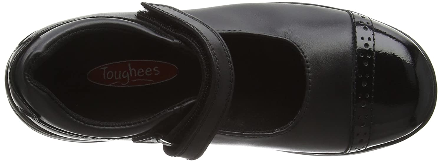 Toughees Shoes Janine Patent Leather, Zapatos Comfort, Niñas, Negro (Black), 34.5