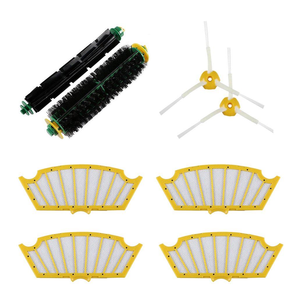 Kit de reemplazo de filtros y escobillas para iRobot Roomba 500 Series (500 520 585 595 620 ) Robots de limpieza al vacío