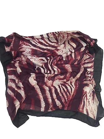 a4c2fde80c6 World of Shawls Storm Tiger Print Scarf Wrap  Shawl (Storm Tiger - Black