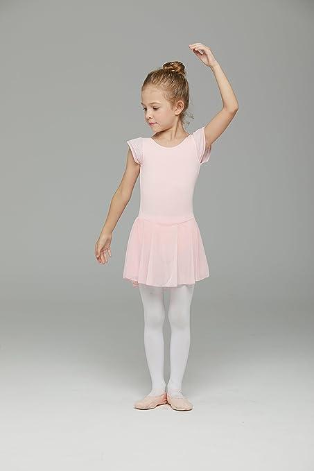 815612cdb Amazon.com  MdnMd Girls  Flutter Sleeve Skirted Leotard  Clothing
