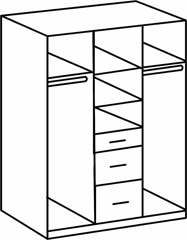 2 T/üren 2 gro/ße B//H//T 1 kleine Schublade Eiche S/ägerau// Absetzung Wei/ß Wimex Kleiderschrank// Dreht/ürenschrank Click 90 x 199 x 58 cm 1 Spiegel,