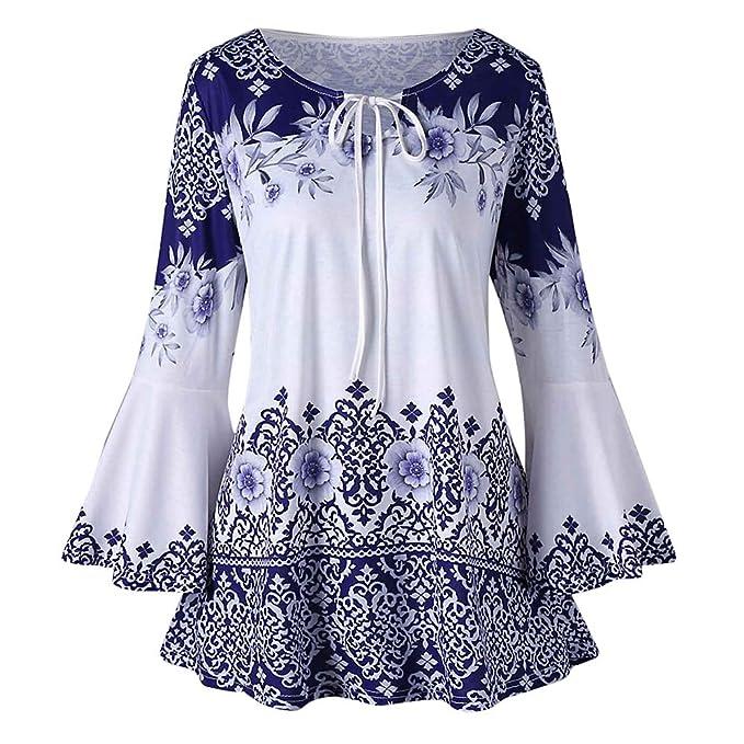 FAMILIZO_Camisetas Mujer Verano Tops Mujer Primavera Camisetas Mujer 2018 Otoño Largo Camisetas Mujer Amplio Manga Larga