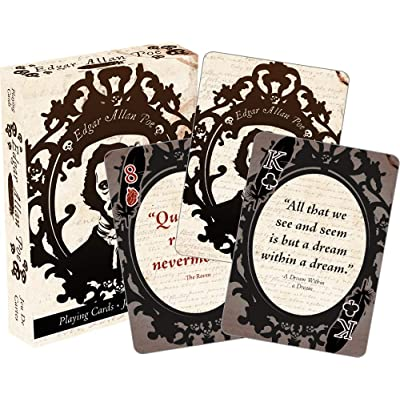 Aquarius Edgar Allen Poe Playing Cards: Toys & Games